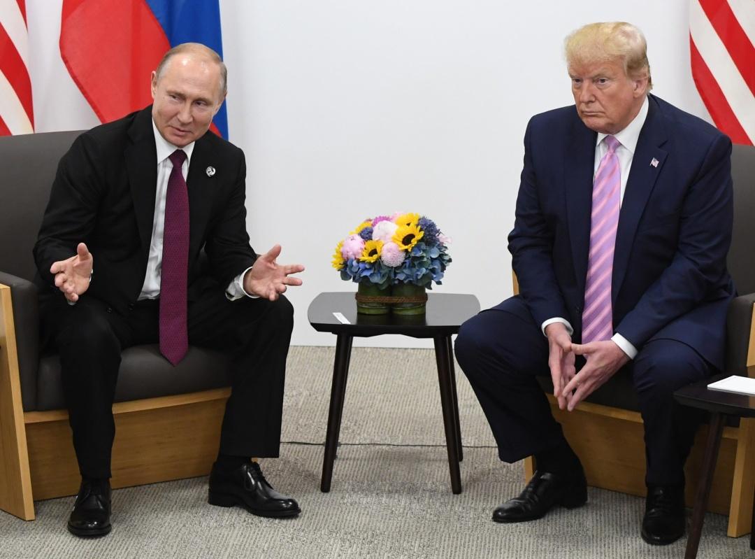 プーチン露大統領とトランプ米大統領