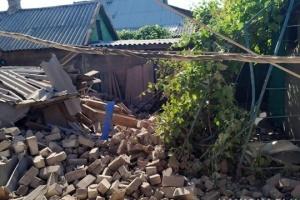 東部マルインカにて民間住宅に砲弾着弾、民間人4名負傷