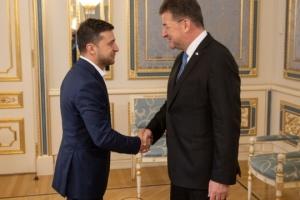 Präsident trifft sich mit dem OSZE-Vorsitzenden Lajcak
