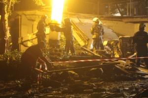 Вибух в Києві: на повітря злетів гараж у дворі будинку