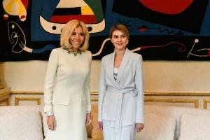 Первые леди Украины и Франции встретились в Елисейском дворце