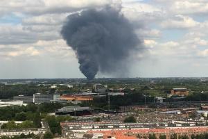 В Нидерландах горит мебельная фабрика
