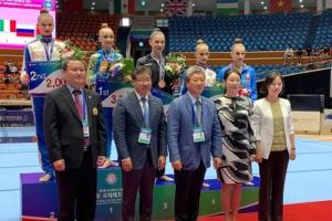 Пограничная завоевала 3 медали на соревнованиях по художественной гимнастике в Корее