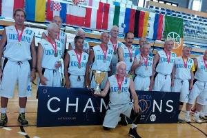 Баскетбольна збірна України серед ветеранів стала чемпіоном Європи