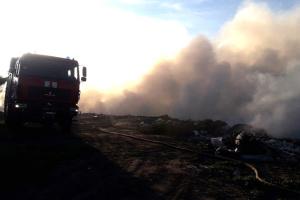 На Полтавщині загасили пожежу на сміттєзвалищі