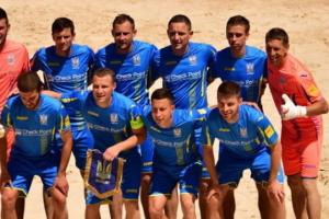 Сборная Украины по пляжному футболу в серии пенальти победила Италию на Европейских играх