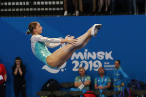 """Украинские батутистки выиграли """"серебро"""" на Европейских играх-2019"""