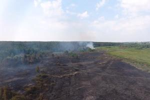 В Ирпене со вчерашнего дня тушат торфяной пожар