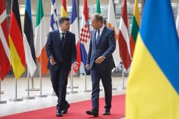 Зеленский поблагодарил Туска за инициативу пригласить Украину на следующий саммит G7