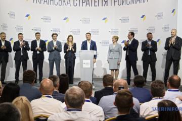 Hrojsman przedstawił zespół z którym pójdzie na wybory