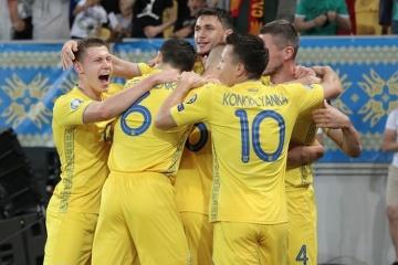 El equipo nacional de Ucrania sube tres posiciones en el ranking de la FIFA