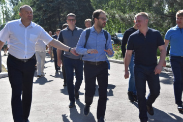 EU delegation visits central hospital and school in Donetsk region