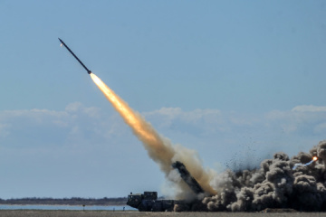 Danyliuk, Poltorak participate in tests of modernized missiles of Vilkha multiple launch rocket system
