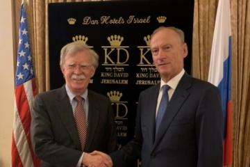 Ukrainische Frage beim Treffen Boltons und des Chefs russischen Sicherheitsrates erörtert