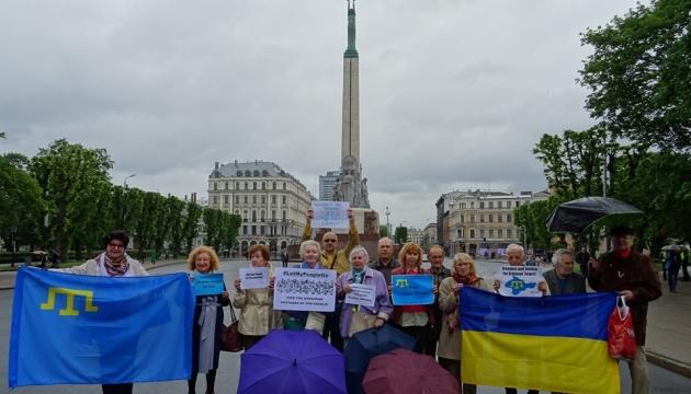 У Ризі провели акцію на підтримку українських політв'язнів