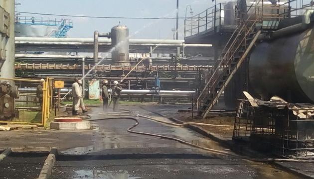 На Харківщині горіло відділення з переробки нафти
