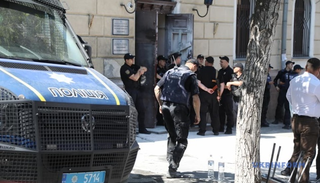 Під час сутичок біля Одеського медуніверситету травмували поліцейського