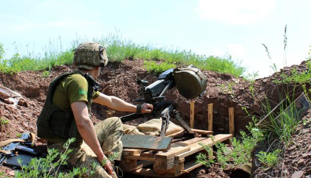 W Donbasie okupanci 17 razy ostrzelali stanowiska Sił Zbrojnych Ukrainy