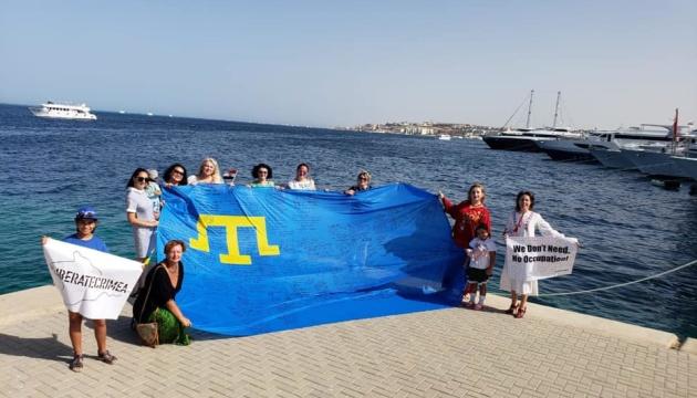 В Єгипті провели флешмоб у рамках акції «Об'єднані прапором - #LIBERATECRIMEA»