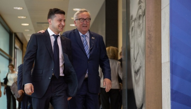 Zelensky se reúne con Juncker en Bruselas (Vídeo, Foto)