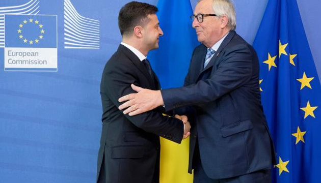 Zelensky meets with Juncker in Brussels
