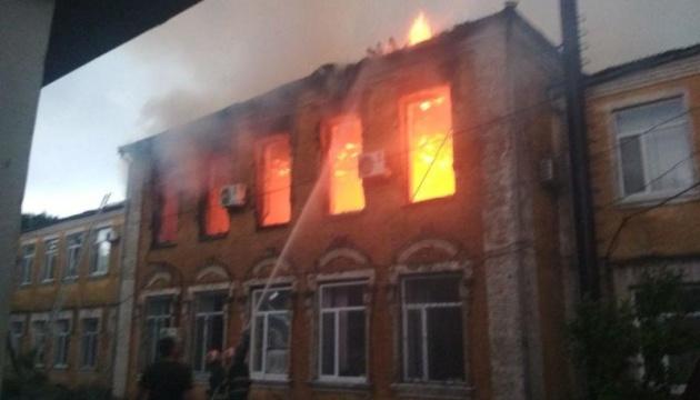 На Кіровоградщині від блискавки загорілася райдержадміністрація
