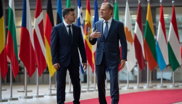Туск после встречи с Зеленским: ЕС продолжит финансовую поддержку Украины