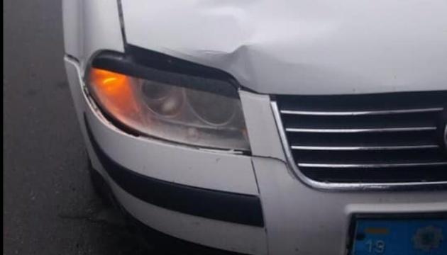 À Konotop, la voiture du chef de la police locale a renversé un enfant