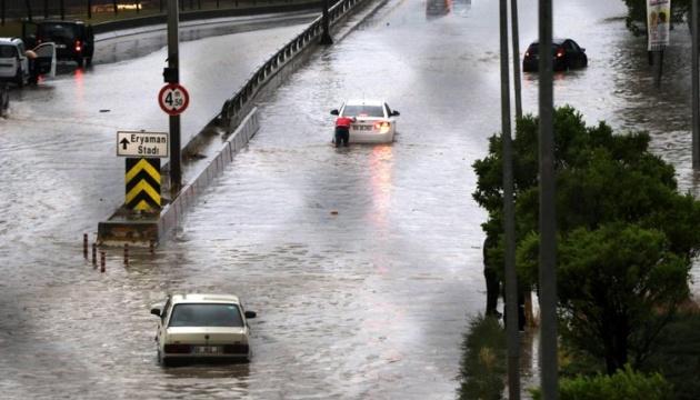Столицю Туреччини затопило в результаті рекордної кількості опадів