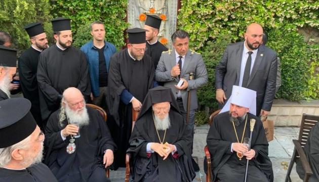 Епіфаній у Стамбулі зустрівся з предстоятелем Елладської церкви