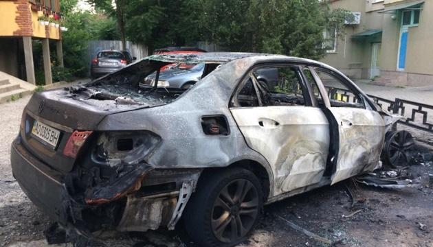 В Ужгороді підпалили автівку заступника мера