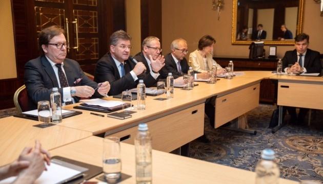 OSCE chair meets with Sajdik, Kuchma