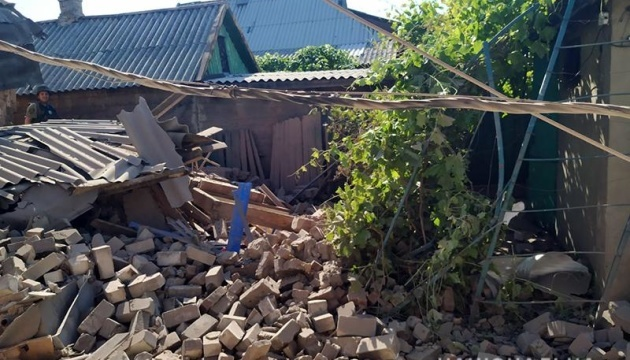 Shelling of Marinka in Donbas: four injured, including a child. Photos