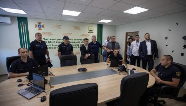 Зеленский открыл в Мариуполе Центр разминирования