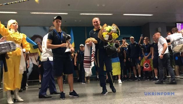 Збірна України U-20 повернулась додому