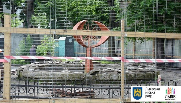 У Львові на місці фонтану знайшли древні мури