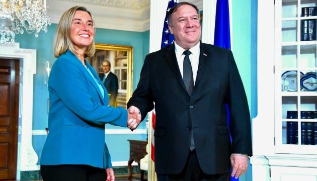Помпео і Могеріні обговорили питання безпеки й оборони в Європі