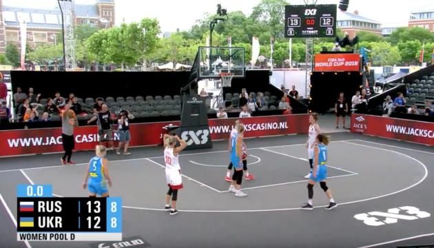 Жіноча збірна України з баскетболу 3х3 програла перший матч чемпіонату світу