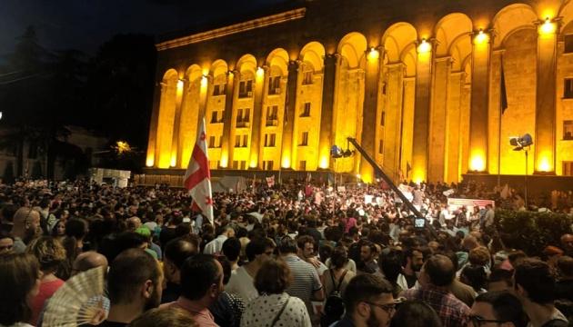 У Грузії учасники акції протесту увірвалися до парламенту