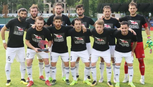 Футболисты грузинских клубов вышли в антироссийских футболках
