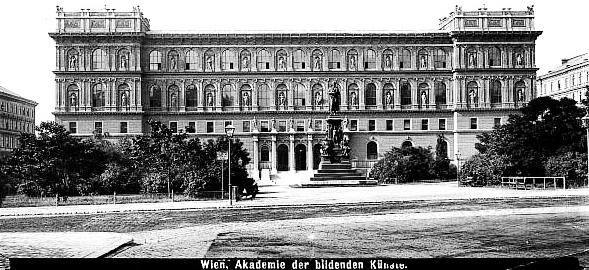Цісарська Академія об'єднаних образотворчих мистецтв, Відень