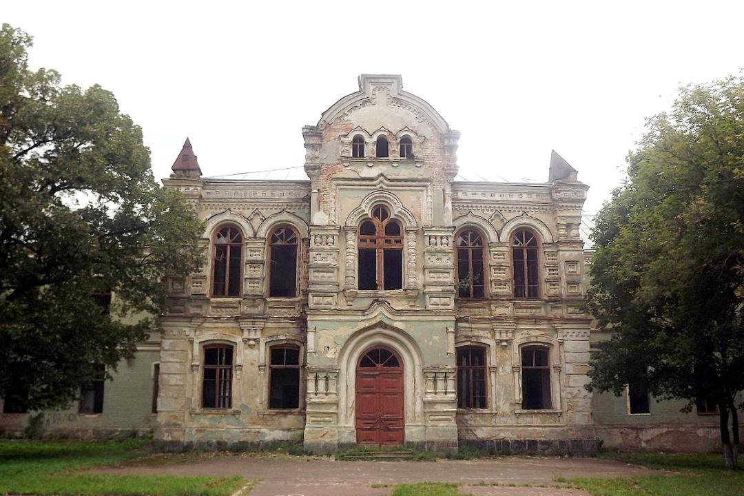 Златопільська чоловіча гімназія, північний фасад