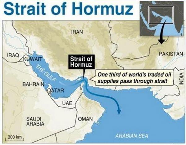 Через Ормузьку протоку щодня транспортується 18 млн. барелів нафти