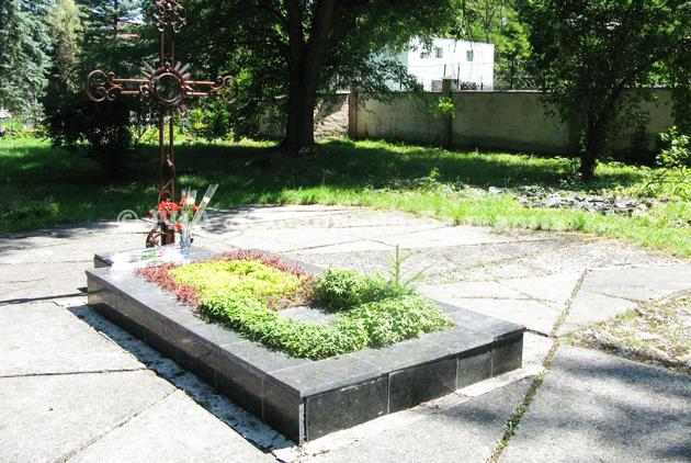 Могила письменниці на території будинку-музею Марка Вовчка у Долинському
