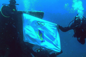 Хмельничани привітали медалістів Європейських ігор на символічній глибині 51 м