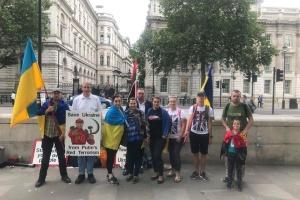 Українці у Лондоні вшанували пам'ять жертв трагедії МН17