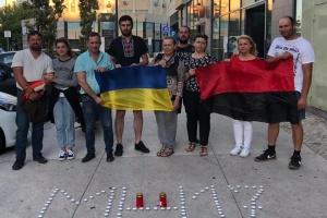 Українці у Португалії вшанували жертв МН17 і нагадали, що Росія – терорист
