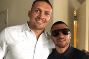 Lomachenko und Usyk besuchen in London Boxkampf Whyte - Rivas