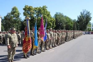Новая Каховка встретила бойцов 57-й бригады с передовой