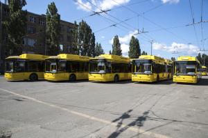 У столиці на маршрути вийшли п'ять нових тролейбусів